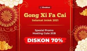 Spesial Promo Imlek 2021, Diskon 70% Paket Hosting CUTE 2GB [Berakhir]