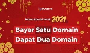 Spesial Promo Imlek 2021, Bayar 1 Domain Dapat 2 Domain [Berakhir]