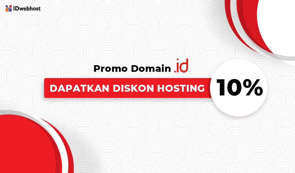 Beli Domain .ID Dapat Diskon Hosting 10%
