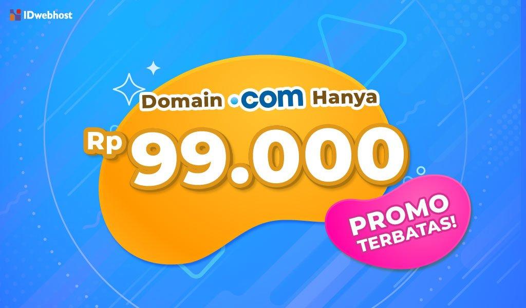 IDwebhost Promo .COM Lagi!! Cuma Rp99.000 [Berakhir]
