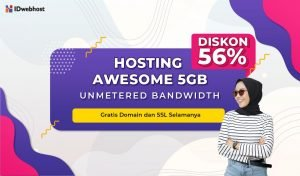 Hosting AWESOME 5GB Lebih Murah! Gratis Domain!