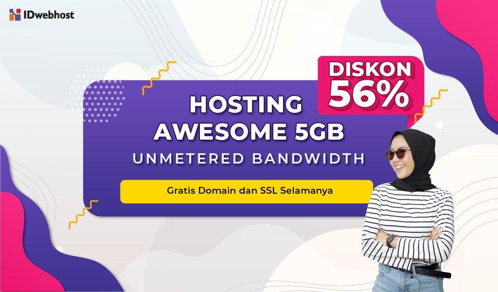 Hosting AWESOME 5GB Lebih Murah! Gratis Domain! [Berakhir]
