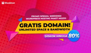 Promo Weekend! Diskon Hingga 80% Wordpress Hosting