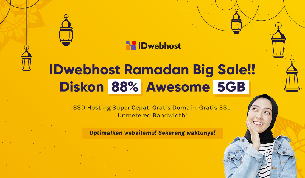 Promo Spesial Ramadhan! SSD Hosting 5GB Diskon Hingga 88%