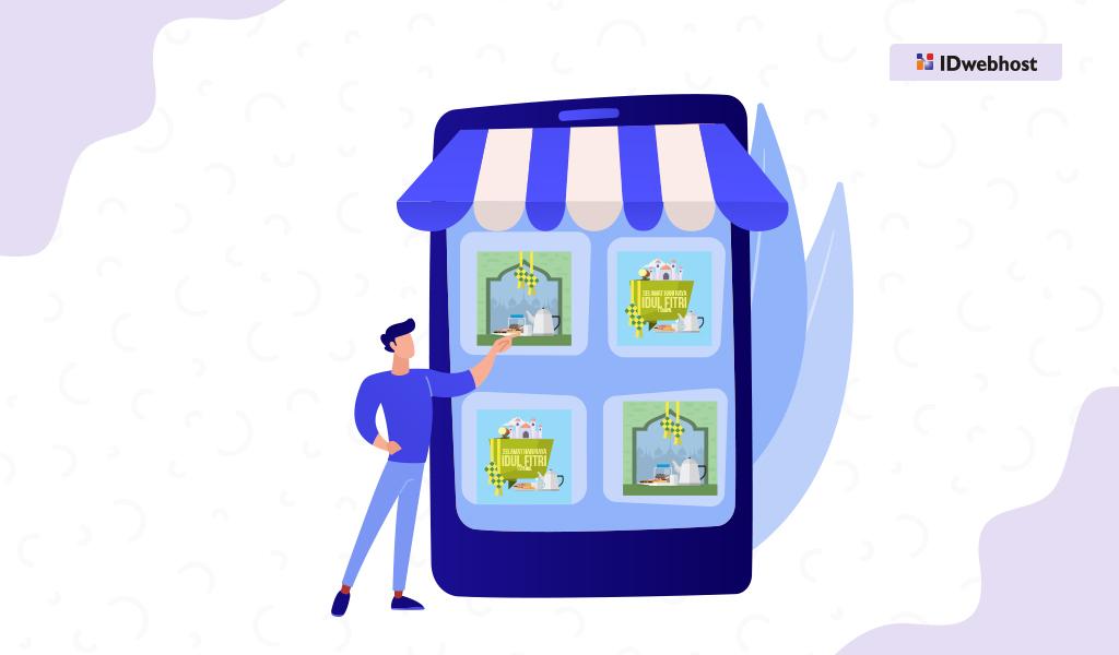 Penjualan Online Kartu Ucapan Lebaran