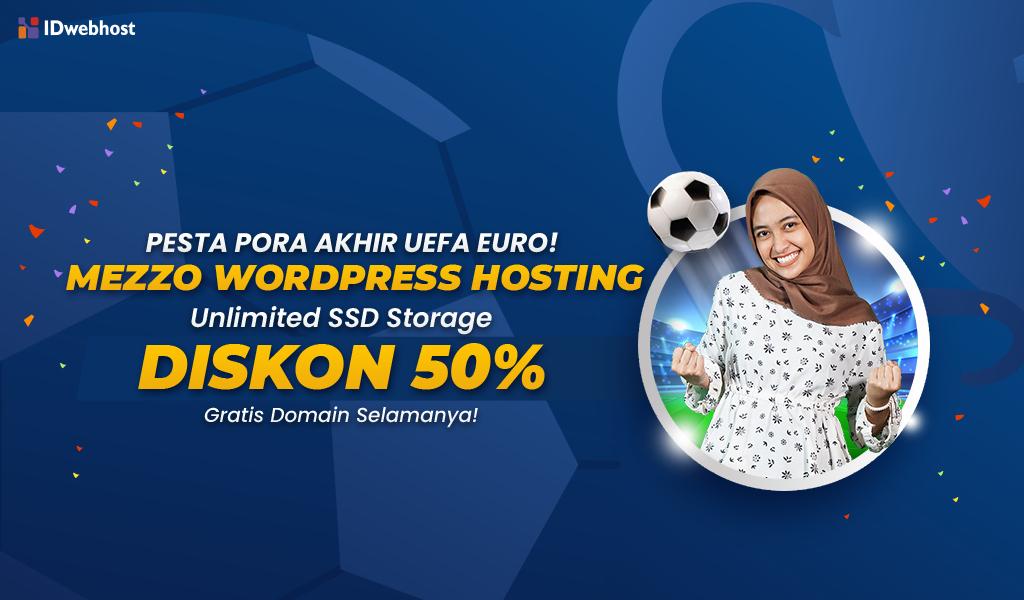 Kejutan Pesta Pora UEFA EURO diskon 50% Wordpress Hosting