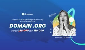 IDwebhost Promo Domain .Org Termurah!! Cuma Rp110.000