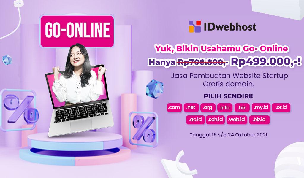 Hanya Dengan Rp499.000 UMKM bisa Go Online!