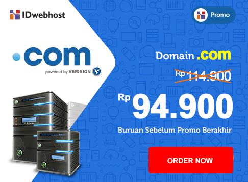 Promo - Promo Domain COM 94.900 IDR