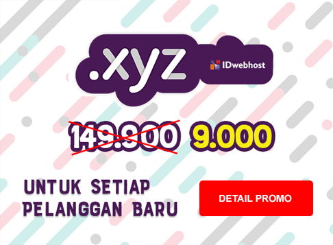 Promo - Domain XYZ Paling Murah Sedunia