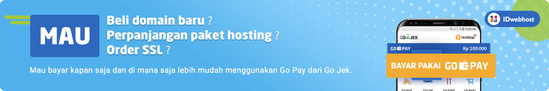Promo - Beli Domain Hosting SSL pakai Go Pay