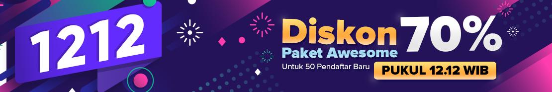 Promo - Diskon 70% Awesome 1 thn untuk 50 Pelanggan Baru