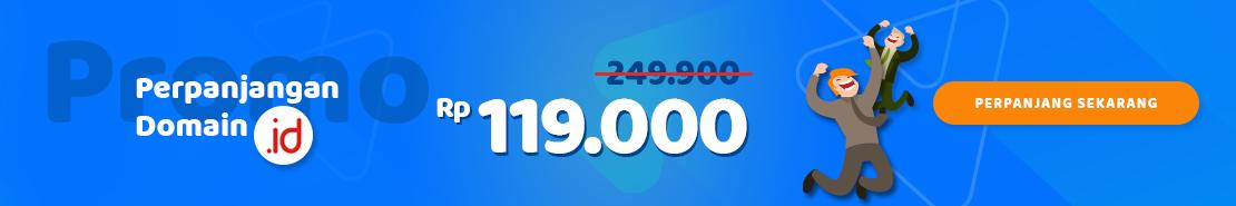 Promo - Promo Perpanjangan Domain ID 119.000