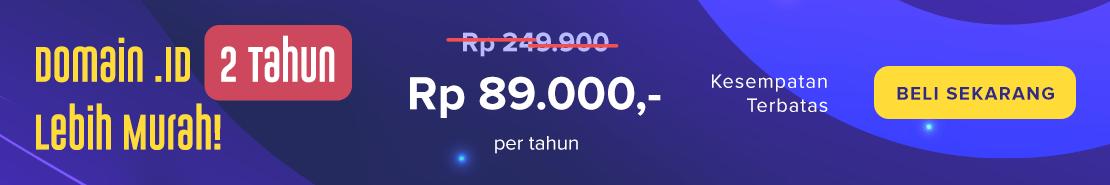 Promo - Domain ID Super Murah 2thn 89000/thn