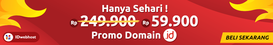 Promo - PROMO! DOMAIN ID HANYA 59.900