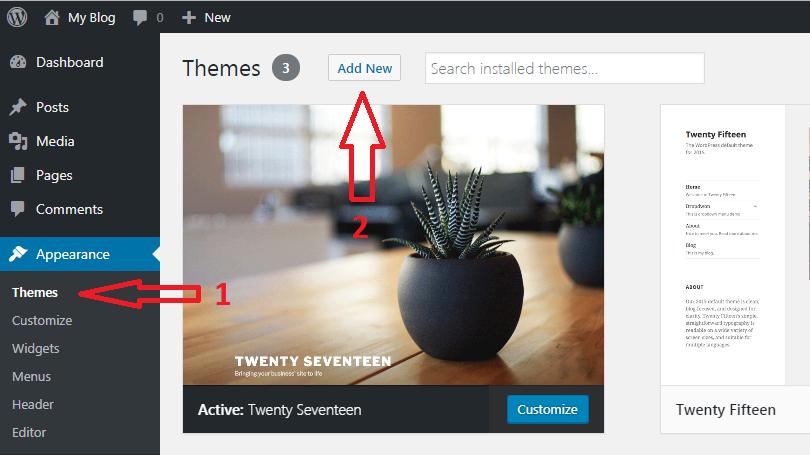 Install Dan Ubah Themes WordPress 1