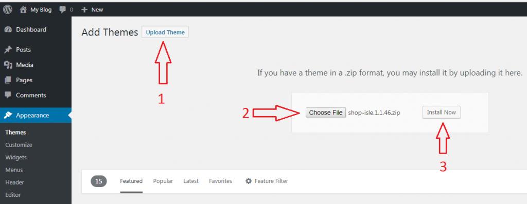 Install Dan Ubah Themes WordPress 6