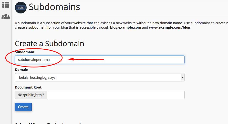 Cara Membuat Sub Domain di Cpanel 3