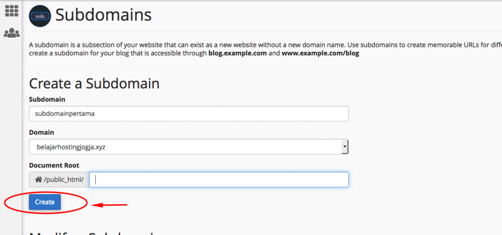 Cara Membuat Sub Domain di Cpanel 4