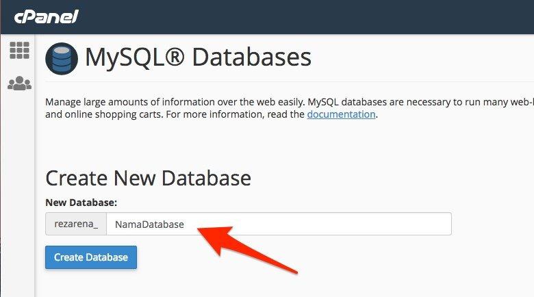 cara membuat database mysql dan