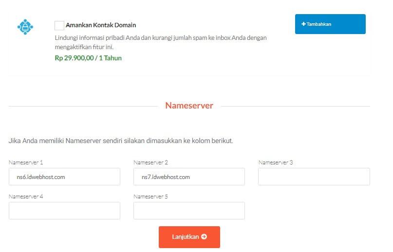 Cara Order / Proses Transfer Domain ke IDwebhost.com 5