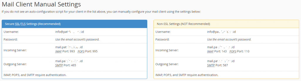 Manual Konfigurasi Email