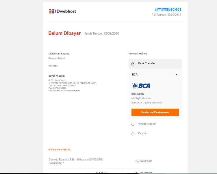 Cara Order SSL di IDwebhost 5
