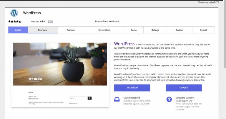 Install WordPress Dengan Menggunakan Softaculous 3