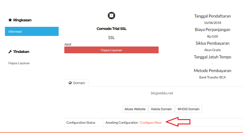 Configurasi SSL