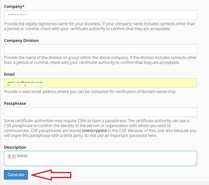 Cara Install SSL di cPanel 8