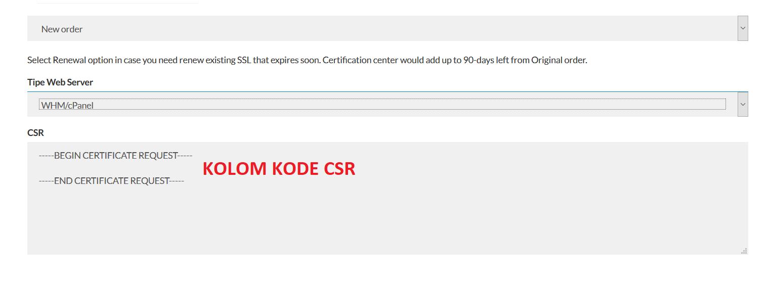 Kolom Kode Csr