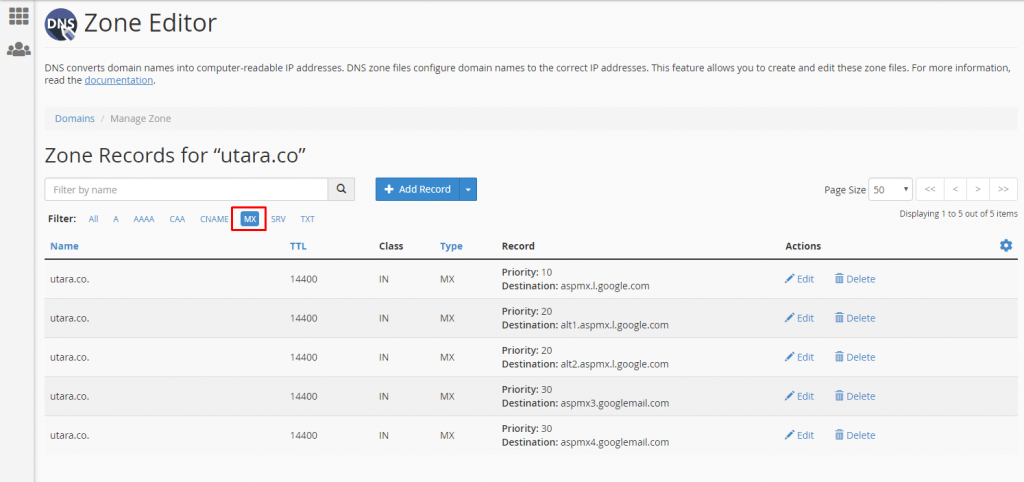 Cara Setting MX Domain ke Google Apps / Google Suite 7